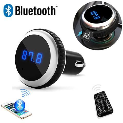MP3 Bluetooth  FM Transmitter With Remote Control Wireless Audio Player - Hands-Free LCD Screen w/ TF Slot