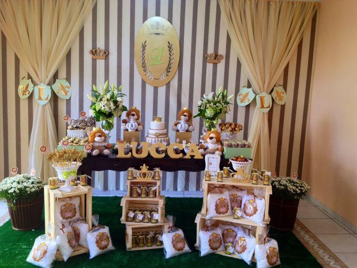Hoje tem mais uma linda Decoração de Chá de Bebê!!Venha se inspirar com estes leõezinhos. super fofos.Imagens do Facebook Fru Fru & Cia.Lindas ideias e muita inspiração.Bjs, Fabíola Tel...