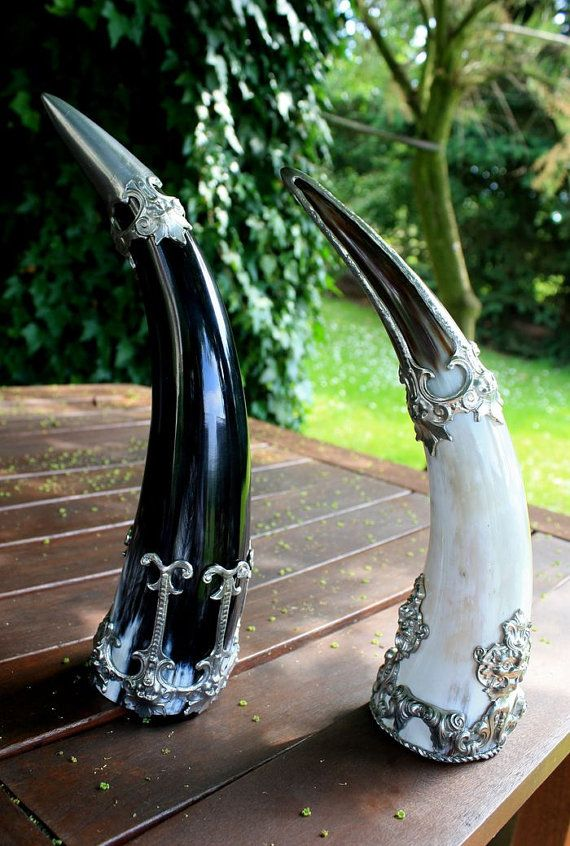 Drinking HORN De Luxe with GREEMAN Viking Pagan by WulflundJewelry
