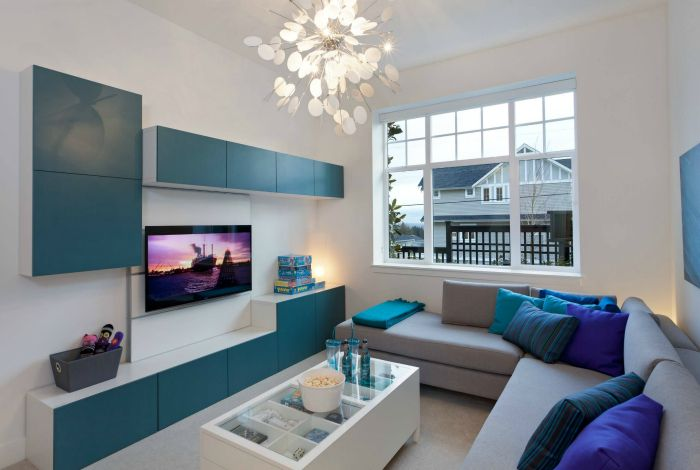 El interior sin pretensiones en un estilo moderno.