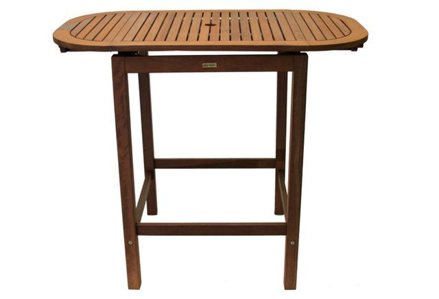 Yarmouth Outdoor Pub Table, Natural