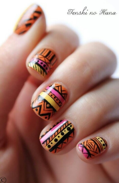 Die besten 25 tribal print nails ideen auf pinterest nagelkunst love tribal print prinsesfo Image collections