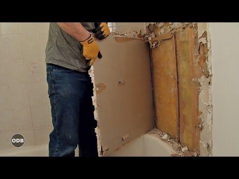 How to Remove Bathtub Tile Surround Easily - YouTube