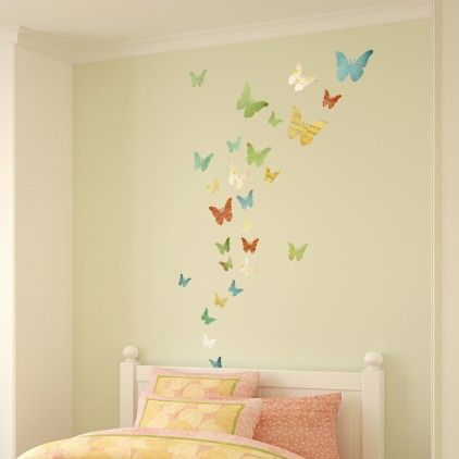 A Set Of 30 Patterned Respositionable Fabric Butterfly Wall Stickers That  Are Ready To Just Peel Off And Apply. These Fabric Butterfly Wall Stickers  Are ... Part 77
