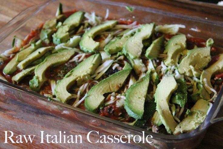 Raw Italian casserole: Casseroles Recipes, Biblical Homemaking, Lunches Recipes, Diet Recipes, Zucchini Noodles, Italian Casseroles, Raw Italian, Casserole Recipes, Real Food