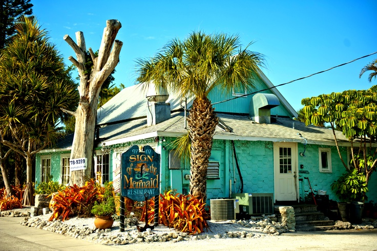 "Sign of the Mermaid Restaurant Anna Maria Island Beach Life votes this ""The Best Gourmet Breakfast on Anna Maria Island"""