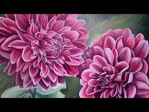 "Tutorial on making acrylic painting ""hydrangea"" - YouTube"