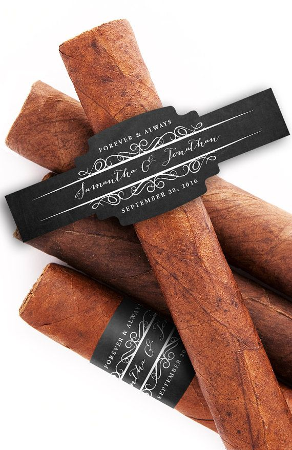 48 Custom Cigar Bands Wedding Cigar Labels by iCustomLabel