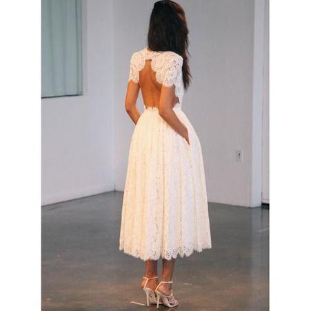 Robe de mariee princesse courte