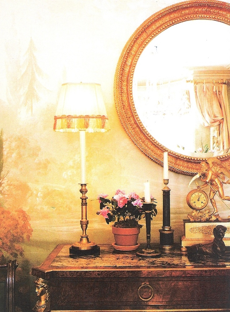 Vignette - Opera Star Renee Fleming's home, Interior Design by John Pascoe. Image House Beautiful May 2003