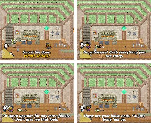 Shirley, these things happen in video games. We can't get hung up on real world morality. We need to survive and win.