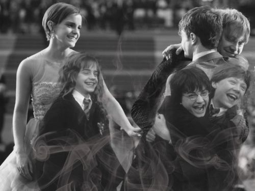 What a great picture! - Emma Watson, Daniel Radcliffe, Rupert Grint - Hermione Granger, Harry Potter, Ron Weasley