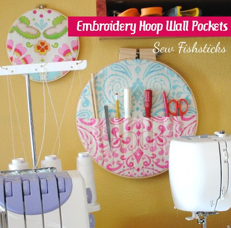 Embroidery Hoop Wall Pocket Fun Fishsticks Designs Blog