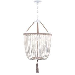 Safavieh Lighting 18-Inch Adjustable Beaded 3-Light Angie Cream Pendant Lamp - 19516581 - Overstock.com Shopping - Great Deals on Safavieh Chandeliers & Pendants