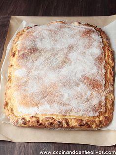 Torta de la Virgen de las Angustias. Dulce típico de Granada. Paso a paso