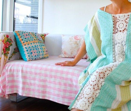 3. Beach Kaftan - 10 Easy DIY Beach Cover-Ups to Make ... | All Women Stalk