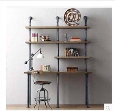 Loft pays d'amérique pour faire le vieux meubles de style, Forgé mur de fer étagère de bibliothèque de tuyau d' ordinateur de bureau séparateur