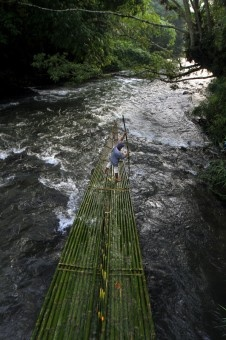 Donny Sophandi: Loksado bamboo rafting one of more traveling ini South Borneo