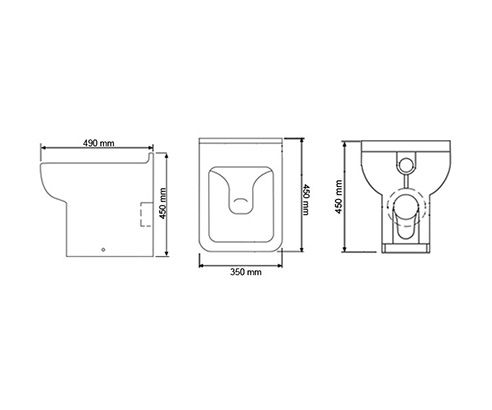 Cubitt Designer Back to Wall Toilet - V20151048OP tech_drawing square medium