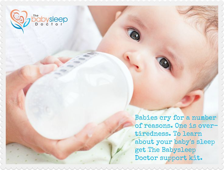 Babies cry for a number of reasons. One is over-tiredness. To learn about your baby's sleep get The Babysleep Doctor support kit. #babysleep_doc