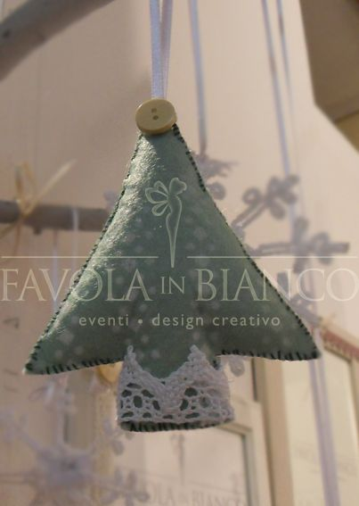 Christmas gifts - alberello di feltro da appendere fatto a mano