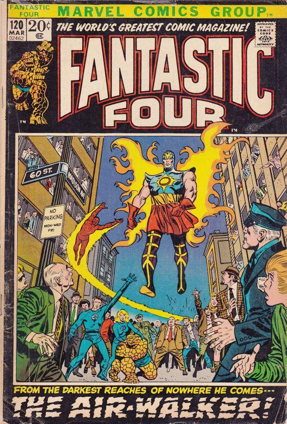 Comic - Fantastic Four 120 - Marvel Comics - Vintage Bronze Age (1972) - Stan…