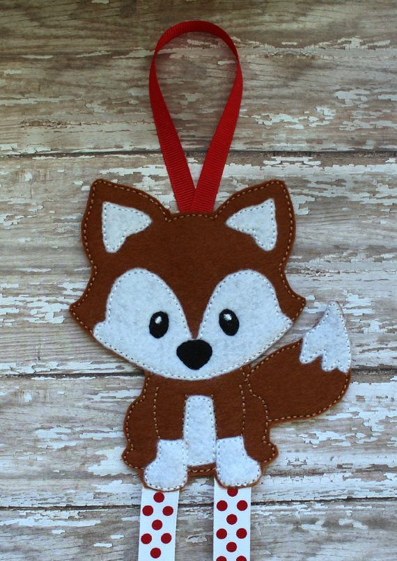 Felt Fox Bow Holder Clip Keeper by fancystitchescouture on Etsy, $10.00