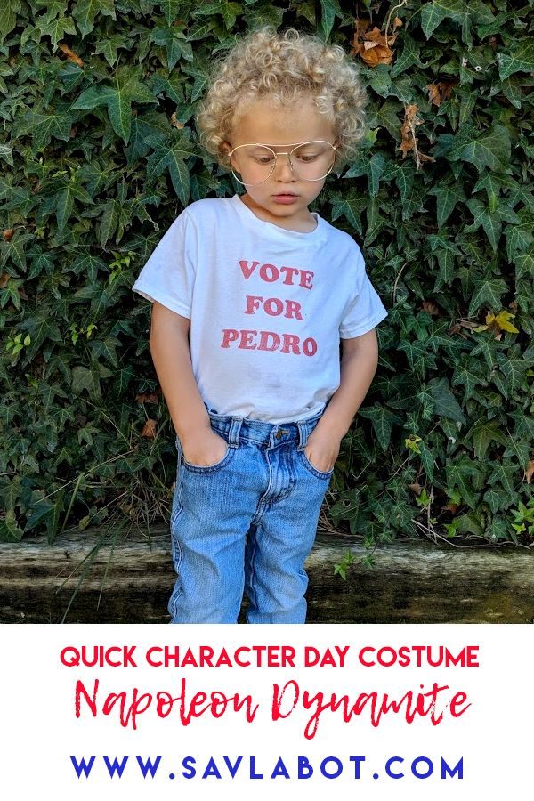 A quick easy costume for character day at school or