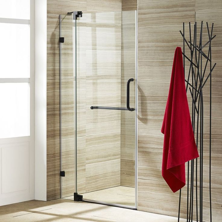 Vigo Pirouette Clear Adjustable Frameless Pivot Shower Door Vigo Shower Door Shower Doors Frameless Shower Doors Frameless Shower