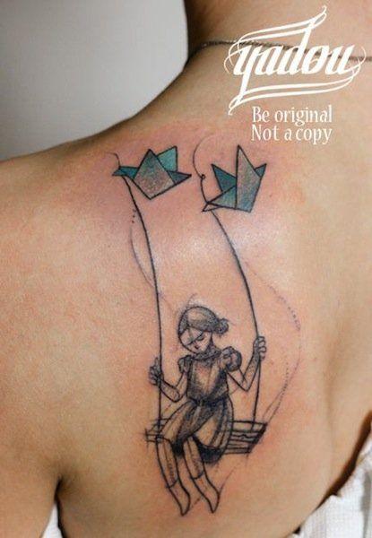 Lovely art by Yadou. swing tattoos