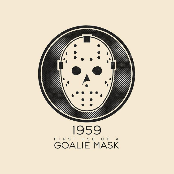 This Day In History - Nov 1 - 1959 - Jacques Plante becomes the first goaltender to wear a mask during a professional hockey game. -- #thisdayinhistory #todayinhistory #tdih #history #hockey #mask #goalie #goal #goaltender #nhl #safety #sports #1959 #365project #illustration #adobe #vector #onthisday #jaquesplante