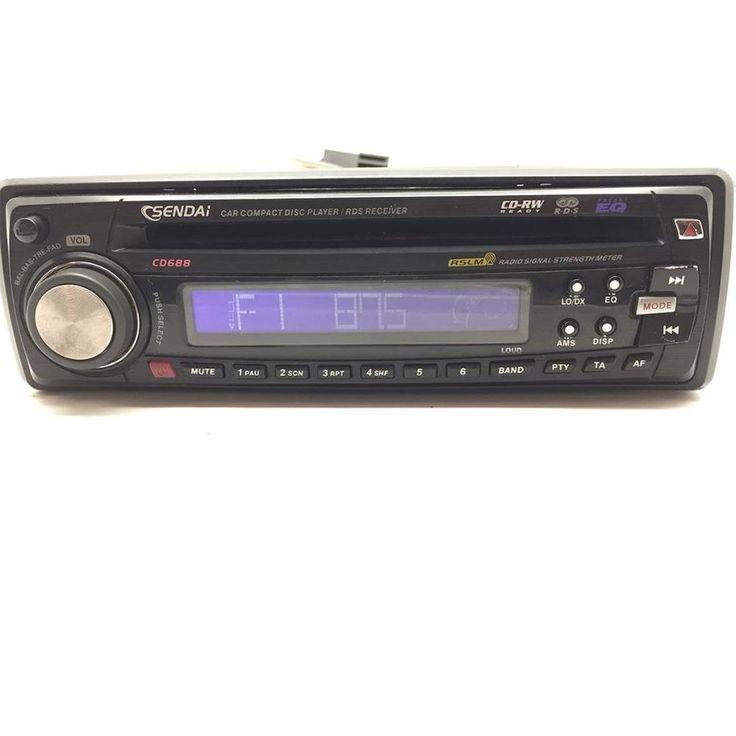 Sendai car stereo CD player Head Unit CD688 ISO DIN CD-RW 4 x 40W aux in RDS #sendai