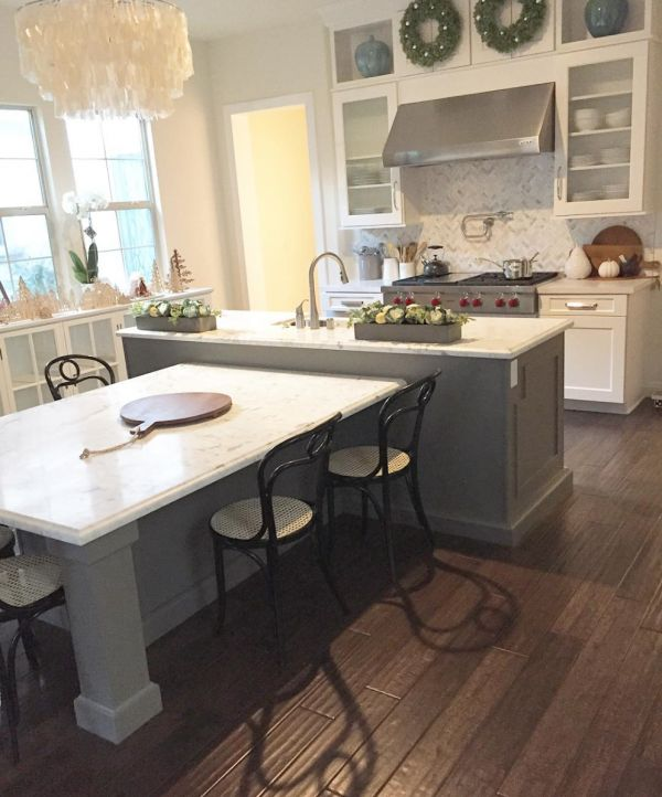 kitchen island table. luv this island! kitchen | my house of four instagram kitchens pinterest island kitchen, and table l