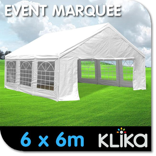 New 6x6 White Gazebo Party Wedding Tent Event Marquee