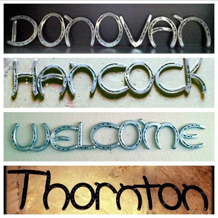 custom made horseshoe signs horseshoe stuff pinterest