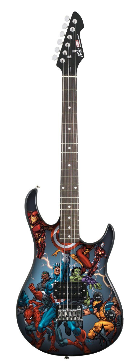 70% off Peavey Rockmaster Marvel Avengers Electric Guitar
