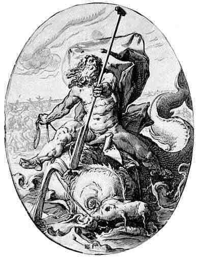 Oceanus - the titan of the seas, he and his wife produced ... Iapetus Titan Symbol