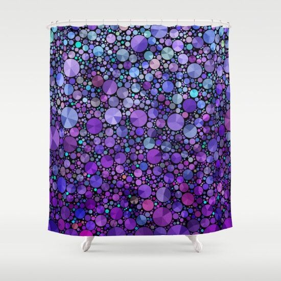 "Purple Shower Curtain, ""Purple Appetite"" , circles, abstract, beautiful, artistic, unique fabric , teal, purple, colorful, bathroom decor, by ArtfullyFeathered on Etsy https://www.etsy.com/listing/262346670/purple-shower-curtain-purple-appetite"