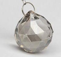 10pcs/lot, серебро персика 30mm кристалла граненый мяч, хрустальная люстра мяч части для свадьбы образный fengshui продукты, рождество украшения