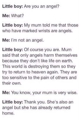Omg I almost cried while reading this. I guess I'm an angel then.