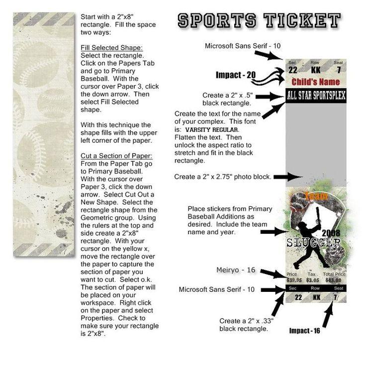 Sportsticket idea for #scrapbooking!: Sportsticket Ideas