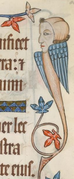 Detail from The Luttrell Psalter, medieval manuscript, 1325-1340: