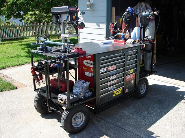 Welding/Tool Cart, by R. Cobb | Description: This is a weldi… | Flickr