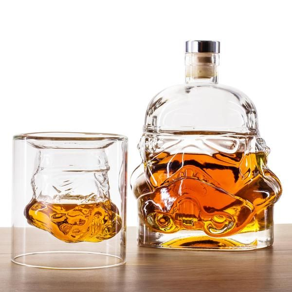 S   LIMITED EDITION 1 DECANTER + 2 WHISKY TUMBLER SET.  OVER 50% OFF + FREE SHIPPING TODAY!    Impress your fellow clones and raise a toast to The Emperor with a few generous measures from the Original Stormtrooper Decanter, which can hold 600ml (20oz) of your favorite Dutch courage. Pair that with TWO Stormtrooper Whisky Tumblers, each 5.07oz (150mL) in size. A proper fan of the Star Wars universe should only enjoy drinks from a Star Wars Stormtrooper Whiskey Tumbler! For a limited time…