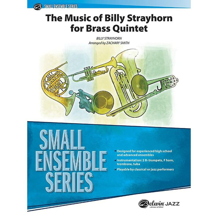 Alfred The Music of Billy Strayhorn for Brass Quintet Concert Band Grade 3.5 Set