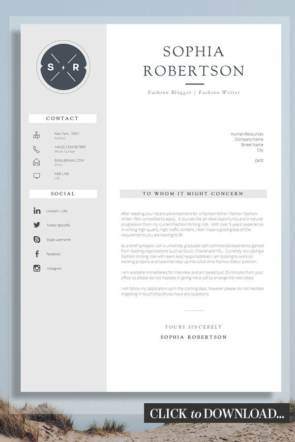 Cover Letter Design Template from i.pinimg.com