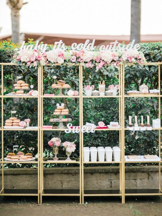 Featured Photographer: Ether & Smith Photography; Wedding reception dessert table idea.