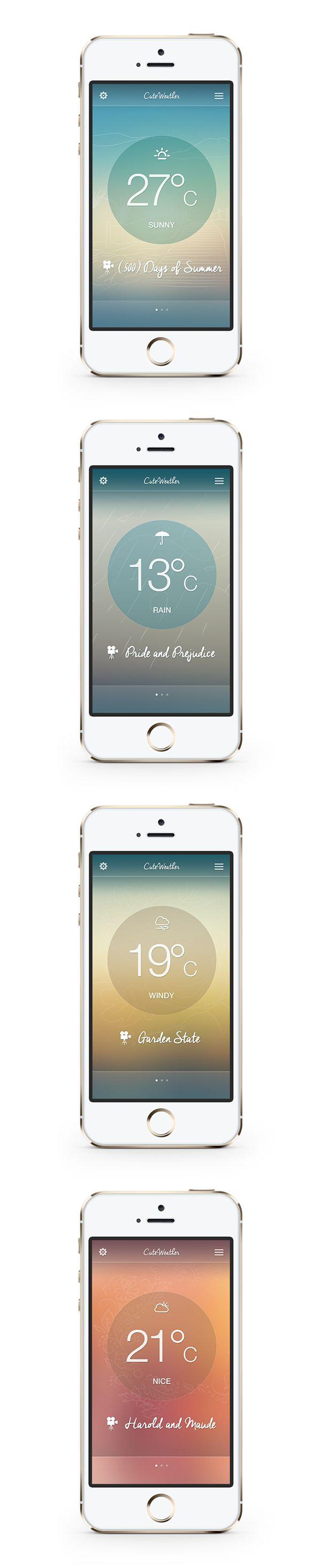 Cute Weather App on Behance