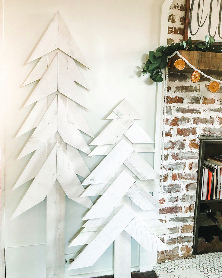 Make These Rustic, White Trees By Using Our White Wash