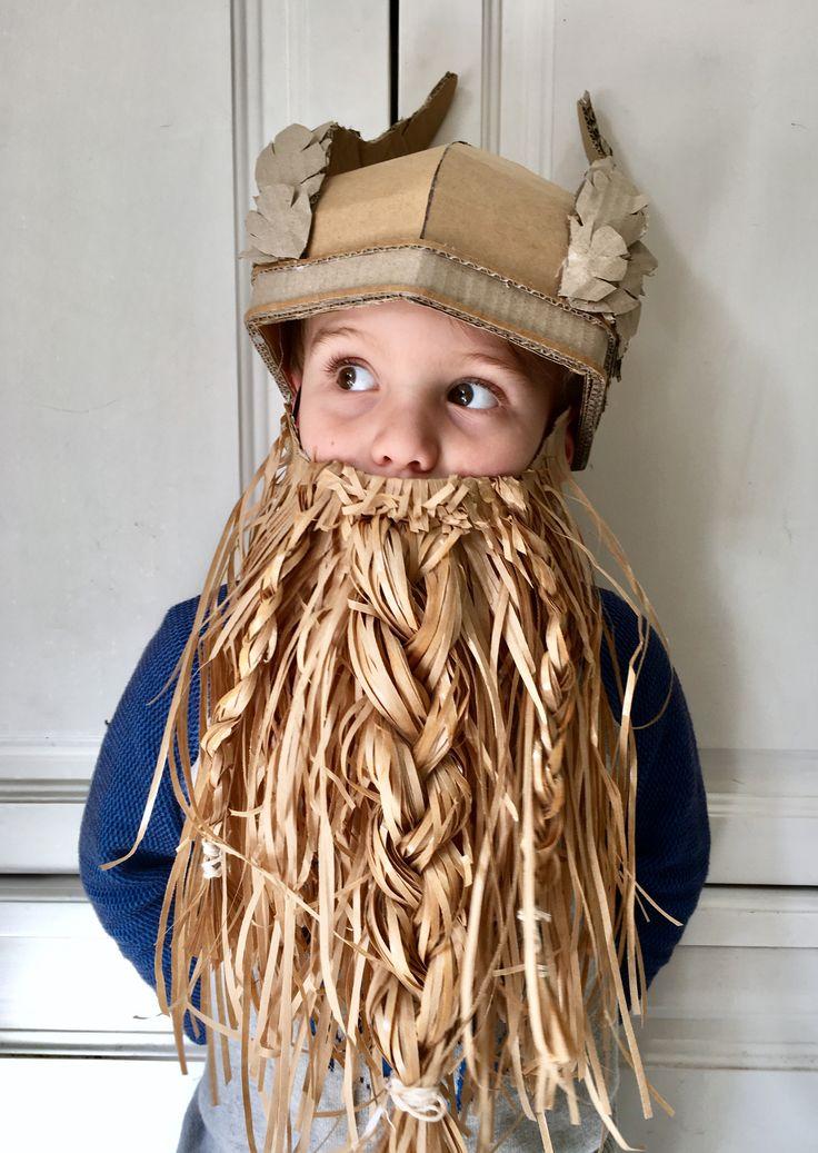 DIY cardboard Viking helmet with wings - Zygote Brown Designs